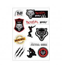 Naklejki Bestial Wolf A4