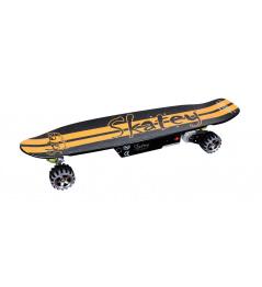 Longboard elektryczny Skatey 400 czarno-pomarańczowy