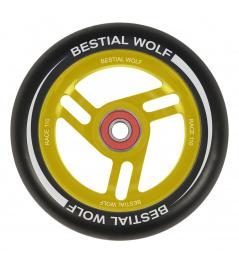 Koło Bestial Wolf Race 110 mm czarno-żółte