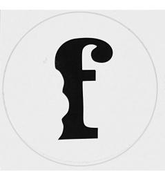 Naklejka Flavour F Biała