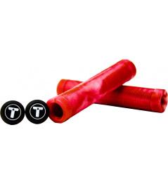 Chwyty Trynyty Swirl Red / Transparent