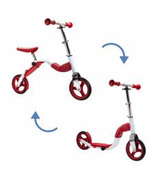 Scoobik skuter i reflektor w jednym kolorze czerwonym