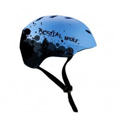 Modrá Bestial Wolf Shell helma