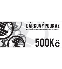 Bon podarunkowy o wartości 500 CZK