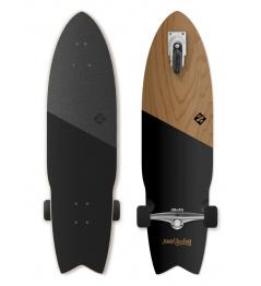 "Longboard Street Surfing SHARK ATTACK 35 ""Koa czarny"