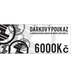 Bon podarunkowy o wartości 6000 CZK