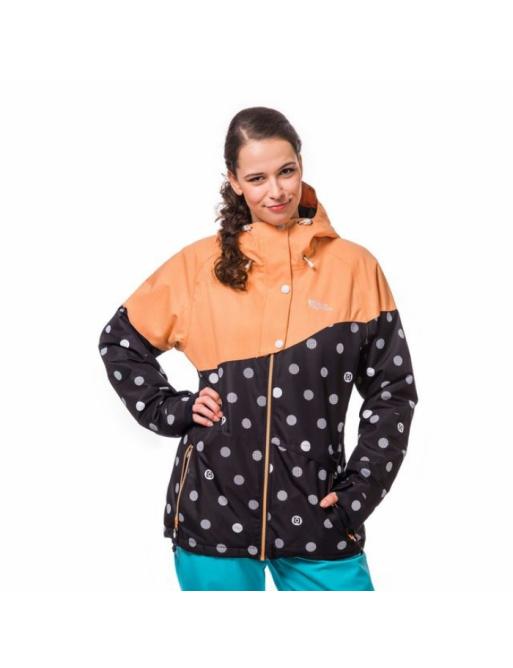 Bunda Horsefeathers Coralie black dots 2016/17 dámská vell.XL