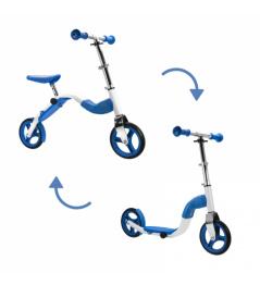 Scoobik skuter i reflektor w jednym kolorze niebieskim
