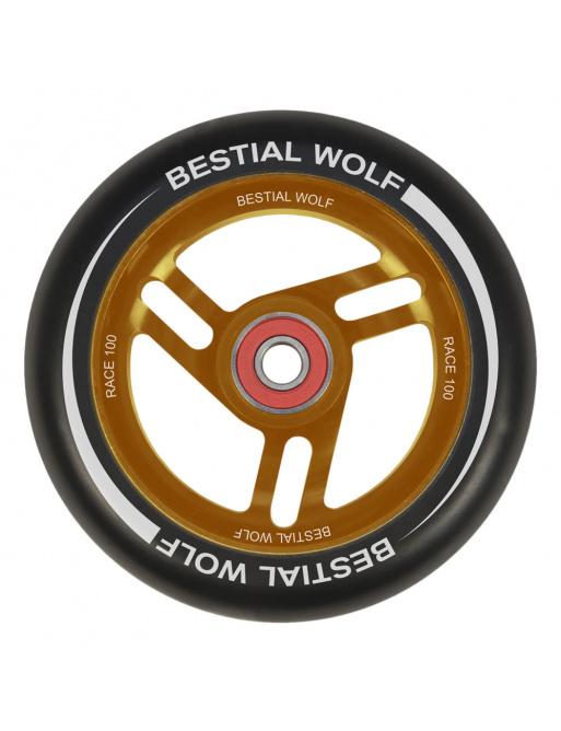 Bestial Wolf Race 100 mm okrągły czarny pomarańczowy