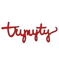 Naklejka Trynyty Czerwony