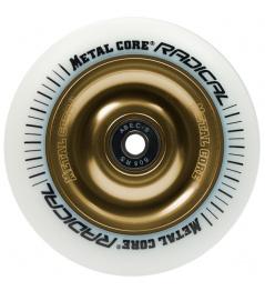 Metalowy rdzeń Radykalny, białe koło o średnicy 110 mm