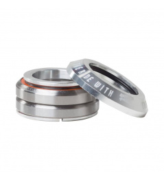 Zintegrowany srebrny zestaw słuchawkowy Rideoo