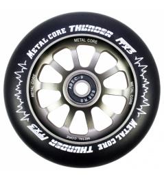 Czarne koło Metal Core Thunder 120 mm