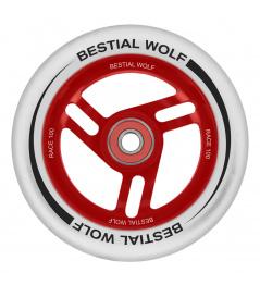 Bestial Wolf Race Białe białe koło o średnicy 100 mm