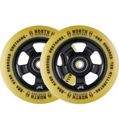 Kolečka North HQ V2 110mm Black/Gum 2ks
