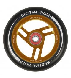 Bestial Wolf Race 110 mm koła czarny pomarańczowy
