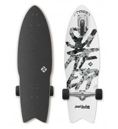 Longboard Street Surfing SHARK ATTACK Świetna biel