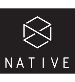 Naklejka Native Logo czarna