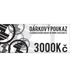 Bon podarunkowy o wartości 3000 CZK
